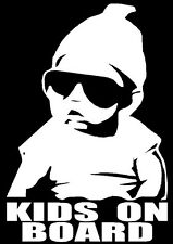 Vinyl Cool funny kids on board decal sticker ideal On tinted privacy glass !
