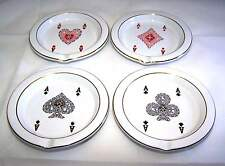 VINTAGE GUCCI Ashtray SET- CARD SUITS -1970's Mid Century Very Hard to Find Set