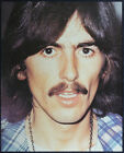 THE BEATLES REPRO GEORGE HARRISON POSTER PAGE TAKEN FROM BOOK . 30 X 25 CM