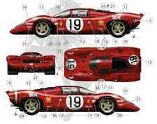 [FFSMC Productions] Decals 1/18 Ferrari 312P 18 and 19 of 24 Hours Of Mans 1969