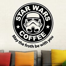 Star Wars Parody Starbucks Wall Decal Stickers Easy Removable Sticker Vinyl