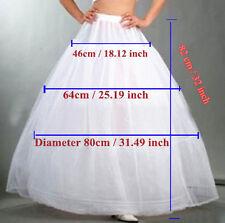 3 Cerceau 1 Couche Jupon Pour Robe de Mariée Soirée Crinoline Petticoat Blanc
