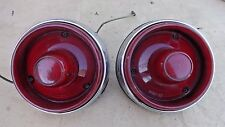 1954 Ford TAIL LIGHT ASSEMBLIES Original pr early take off taillights crestline