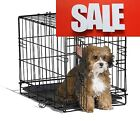 """Small Dog Crate Cage Pet Single Door Training Iron Wire Travel Cat Puppy 18"""""""