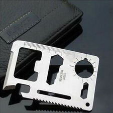 High Quality Survival Tools 11 in 1 Pocket Hunting Camping Credit Card Knife