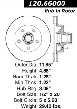 Centric Parts 126.66000SL Front Performance Brake Rotor