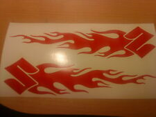 tribal flames vinyl decal graphics sticker motorcycle dirt bike 4x4 off road car