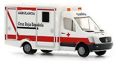 Mercedes Sprinter WAS Ambulanz RTW Cruz Roja Espanol (ES) 1:160 Rietze