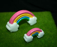 MINIATURES RAINBOW FAIRY BRIDGES  Moss Gardens Gnomes Goblins Fantasy Cake Decor