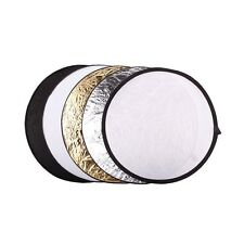 "New 5 in 1 Collapsibl​e 110cm 43"" Lighting Diffuser Round Reflector Disc + Bag"