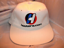 HOOTERS Mens Cap Hat~White with Orange & Blue Logo~One Size Fits Most~NEW