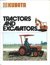 Equipment Brochure - Kubota - B71000 KH-10-D et al Tractors Excavators (E3281)