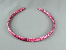 "Red Black White snake skin lizard print satin thin skinny headband 3/8"" wide"