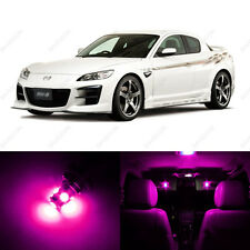 8 x Pink/Purple LED Interior Lights Package For 2004 - 2011 Mazda RX-8 RX8