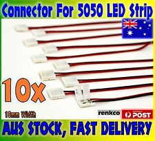 10pcs 10mm PCB board with wire Connector for 5050 LED Strip lights, Oz Adapter