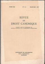 Revue de Droit Canonique - LE LIEN MATRIMONIAL - 1971