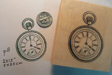 P8 Pocket watch rubber stamp-vintage-WM
