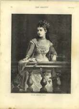 1875 Engraved Portrait Of Mlle Adelina Patti