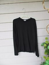 $135 James Perse BLACK 'Baseball' Sweatshirt SZ 2