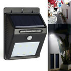 Solar Powered LED PIR Motion Sensor Outdoor Path Wall Light Garden Security Lamp