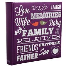 Purple Memo Slip In 10 x 15 cm For 200 Photos Family Friends Photo Album-PF200PE
