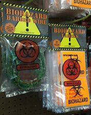 Wicked Wire Halloween Fake Barbed Wire Special Effects Biohazard Glow 12 Foot