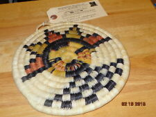 Native American Hopi Woven Hand Made w/ Certificate Of Genuineness