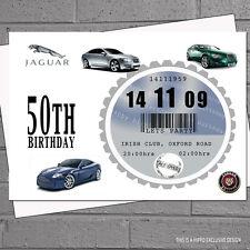 Mens 40th 50th 60th Car Tax Birthday Party Invitations x12 ANYCAR U CHOOSE H0177