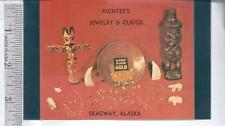 Vintage unused post card RICHTER'S JEWELRY SKAGWAY, AK FREE POLAR BEAR