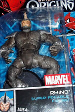 Hasbro Spider-Man Origins Seven-inch The Rhino Action Figure (2006) Opened Card
