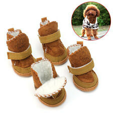 Warm Dog Shoes Brown New Dog Boot Waterproof Anti-Slip Pet Shoes Boot Classic