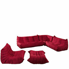 Lexmod Waverunner Sectional Sofa in Red
