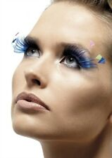 Feather Plume Eyelashes Blue New Adult Halloween Cristmas Womens Makeup by Fever
