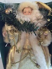 """RARE Fiber Optic 12"""" Santa Christmas Tree or Table Top Decoration by Sterling"""