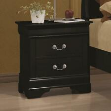 Coaster 203962 Louis Philippe 2 Drawer Night Stand In Black Finish New