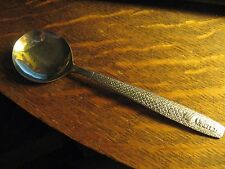 "United Airlines UAL Vintage Tulip Logo ABCO Stainless Airplane 5 7/8"" Soup Spoon"