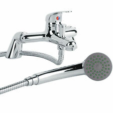 Deck Faucet Brass Chrome Bath Shower Handset Bathroom Filler Mixer Tap 9707