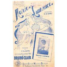 MARIE LAURENCE Tango Mélodie pour Maurice LAPORTE paroles PLANTE musique D'ANZI