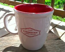 Starbucks Barista Abbey Coffee Mug Cup 13oz White with Red Lettering HTF 2006