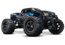BLUE TRAXXAS 770764 X-MAXX BRUSHLESS MONSTER TRUCK RTR 4WD CHARGER+2X LIPO PACK