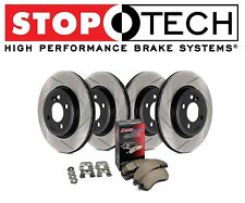 Acura ILX Honda Civic Stoptech Street Slotted Front Rear Brake Rotors Pads Kit