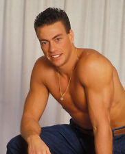 Jean-Claude Van Damme UNSIGNED photo - E145 - TOPLESS!!! - SEXY!!!!
