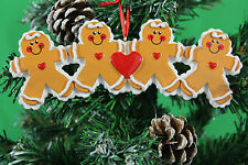 PERSONALISED CHRISTMAS TREE DECORATION ORNAMENT GINGERBREAD FAMILY OF 4