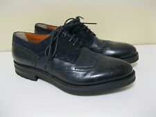 SANTONI Limited Editions*Goodyear Welted Leather Wingtip Mens Shoes 7.5 U.S.