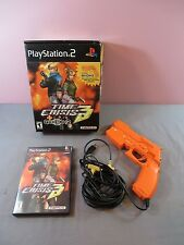 Time Crisis 3 Sony PlayStation 2 PS2 2003 w/ Gun 100% Complete Namco Guncon