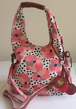 NWT Juicy Couture Nuovo gen.pink Canvas & leather SUMMER SELLA Hobo SHOULDER BAG