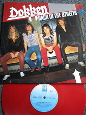 Dokken-back in the streets LP-GERMANY-RED VINYL-Heavy Metal - 1989-33 giri/min
