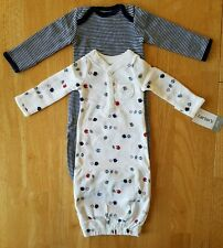 Baby Boys Clothes, Set of 2 Gowns, Size Preemie, Carter's brand, NWT