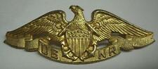 "WW2 *US Merchant Marine* ""USNR"" Sterling Officers Badge - Vanguard N.Y."