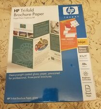 HP Tri-Fold Glossy Brochure Paper for Ink Jet Printers
